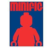Retro Large Black Minifig, Customize My Minifig Photographic Print
