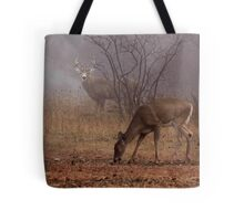 Buck eyes doe - White-tailed Deer Tote Bag