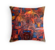 Of Machine And Man  Throw Pillow