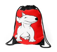English Bull Terrier Pup White Drawstring Bag