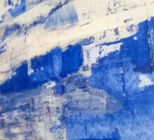 Abstract - Blue Sticker