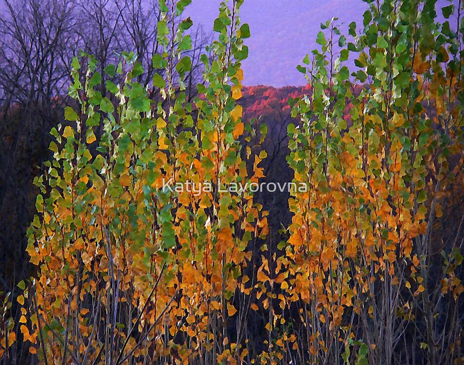 Pastel Petal Leaves by Katya Lavorovna