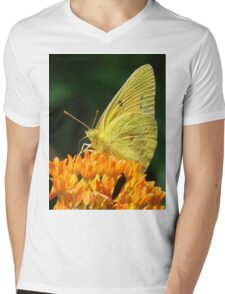 Cloudless Sulphur On Butterfly Weed Mens V-Neck T-Shirt
