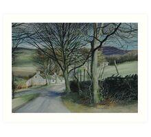 Derbyshire Lane Art Print