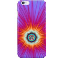 Explosion in Pink Blue and Red iPhone Case/Skin