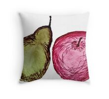 Pear and apple crumble Throw Pillow