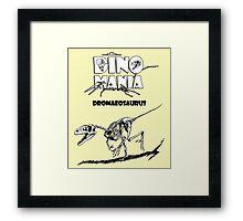 Dino Mania Dromaeosaurus Framed Print