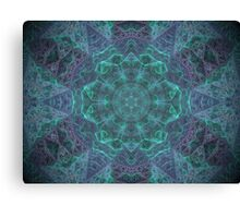 Inside the isometric crystal. Canvas Print