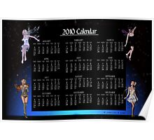 2010 Faeries Yearly Calendar Poster