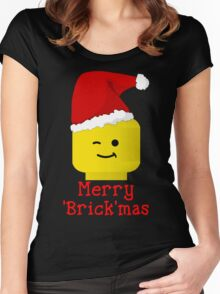 Santa Minifig - Merry 'Brick'mas Women's Fitted Scoop T-Shirt
