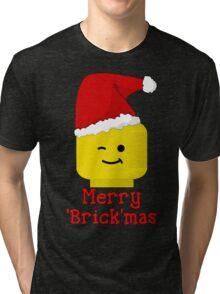 Santa Minifig - Merry 'Brick'mas Tri-blend T-Shirt