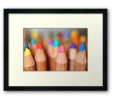 my soft pastels Framed Print