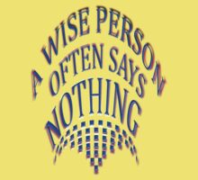 WISE PERSON ~ ~ One Piece - Short Sleeve