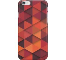 Abstract Cubes - Orange iPhone Case/Skin