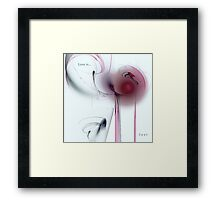 Red Eyes, Red Wine, Discarded Hearts or Love Is...Lost Framed Print