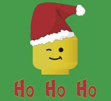 Santa Ho Ho Ho Minifig by Customize My Minifig One Piece - Short Sleeve
