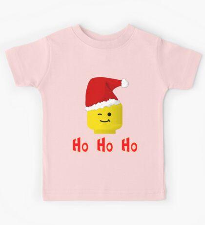 Santa Ho Ho Ho Minifig by Customize My Minifig Kids Tee
