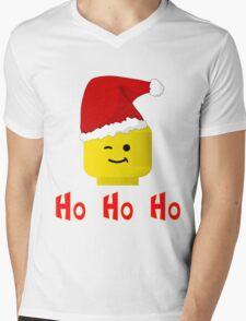 Santa Ho Ho Ho Minifig by Customize My Minifig Mens V-Neck T-Shirt