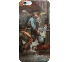 City - NY - Drinking water from a street pump 1910 iPhone Case/Skin