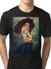 young woman in the wind Tri-blend T-Shirt