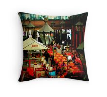 The Apple Market Throw Pillow