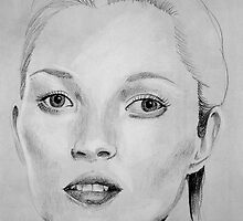 Kate Moss portrait by LaurenLeigh