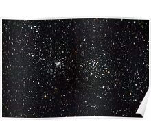 Perseus Double Cluster Poster