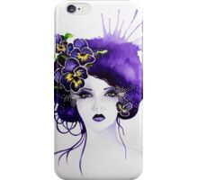Purple Pansy Faerie iPhone Case/Skin