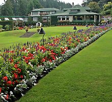 Italian Garden at the Butchart Gardens by celesteodono