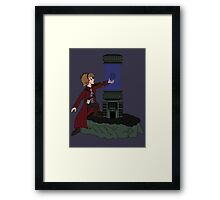 ORB IN THE STONE Framed Print