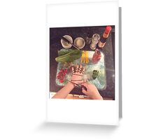 Be careful with knives... Greeting Card