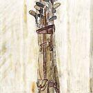 Antique Golf Clubs Watercolor Print by Moonlake