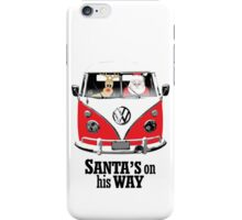 VW Camper Santa Father Christmas On Way Red iPhone Case/Skin