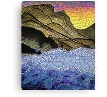where rock and sea meet. Canvas Print