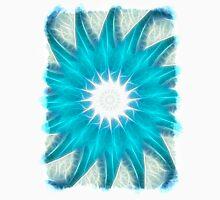 Cyan Glow Kaleidoscope 13 Unisex T-Shirt
