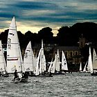 Sailing Boats in Cowes by David Wheeldon