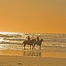Horseback riders on the Oregon Beach by Marylamb