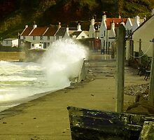 Pennan Village Storm by Martin Slowey