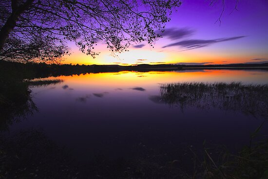 Sunset at Loch of Skene by Martin Slowey