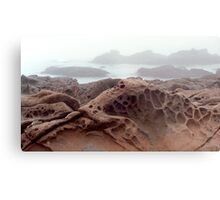 Cambria Rock in Fog Metal Print