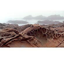 Cambria Rock in Fog Photographic Print