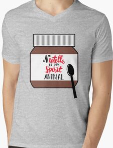 Nutella is My Spirit Animal Mens V-Neck T-Shirt
