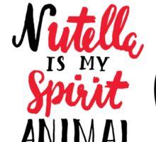 Nutella is My Spirit Animal Sticker