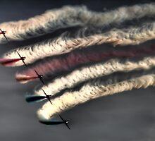 Red Arrows Display Team by Dave Hayward