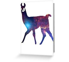 Space Llama Greeting Card