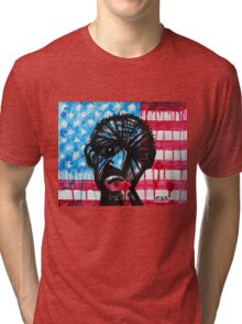 'PORTRAIT OF A MAN WHO WATCHES FOX NEWS ALL DAY' Tri-blend T-Shirt