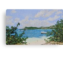 Little boat in Le Galion Canvas Print