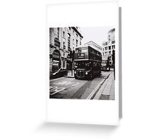 London bus 9 Aldwych Greeting Card