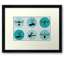 Bees from the Prairie Framed Print