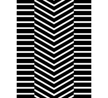Lines - Triangles Down  Photographic Print